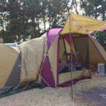 牡蠣キャンプ 赤穂海浜公園オートキャンプ場 でアメドに自作スカート導入