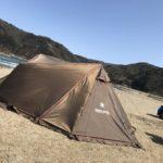 強風の中 デイキャンプ スノーピーク ランドステーション  Pro M